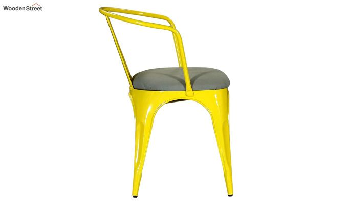 Aero Metal Arm Chair With Fabric (Yellow)-4