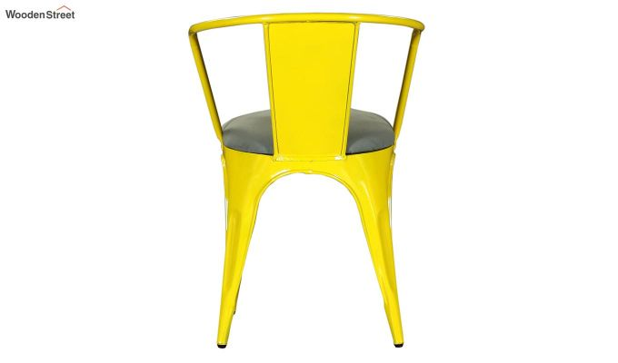 Aero Metal Arm Chair With Fabric (Yellow)-5