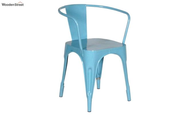 Aero Metal Arm Chair (Sky Blue)-2