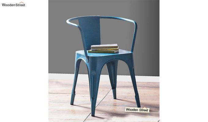 Aero Metal Arm Chair (Sky Blue)-1