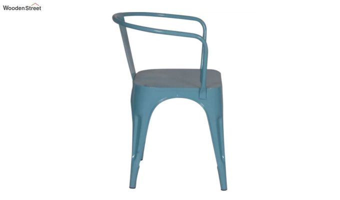 Aero Metal Arm Chair (Sky Blue)-4