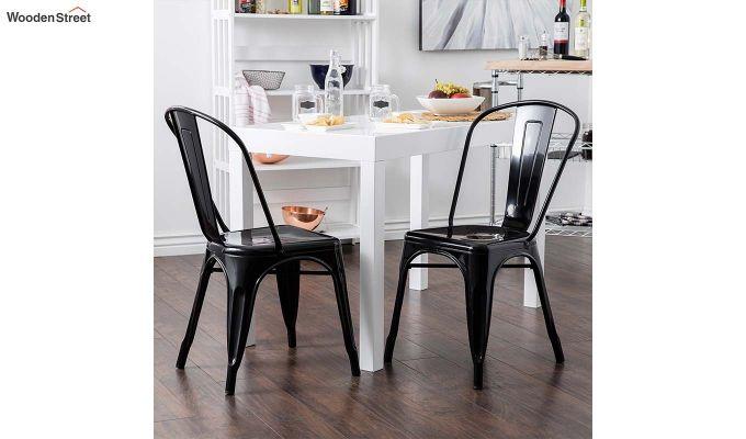Ahora Iron Chair Set of -2 (Black)-1