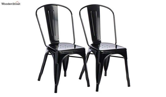 Ahora Iron Chair Set of -2 (Black)-3