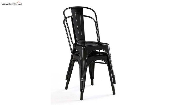 Ahora Iron Chair Set of -2 (Black)-4