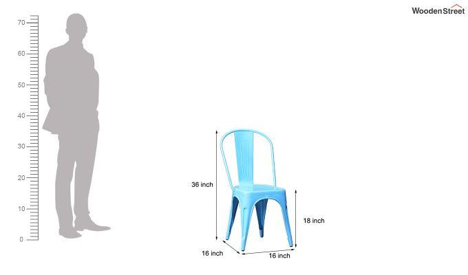 Ahora Metal Chair (Blue)-6