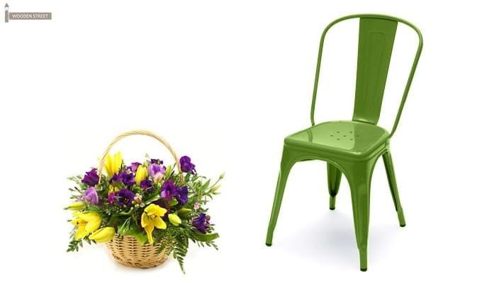 Ahora Metal Chair (Green)-1
