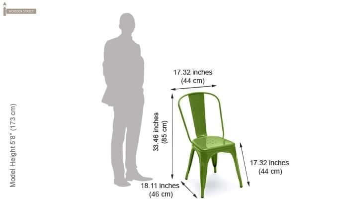 Ahora Metal Chair (Green)-6