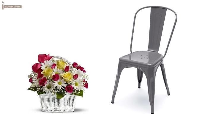 Ahora Metal Chair (Grey)-1