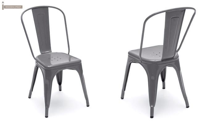 Ahora Metal Chair (Grey)-2