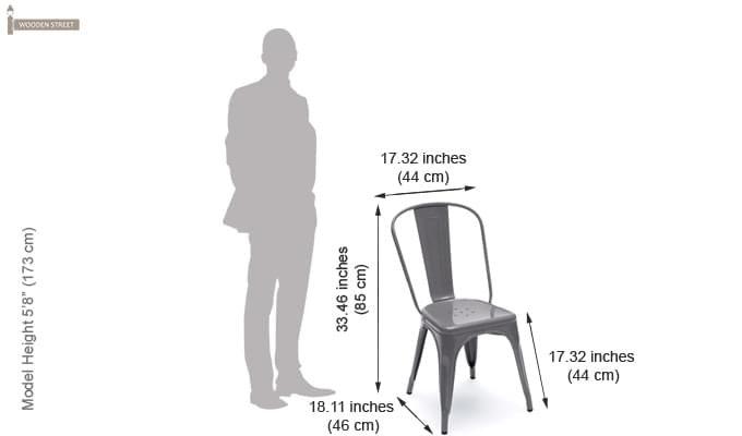 Ahora Metal Chair (Grey)-5