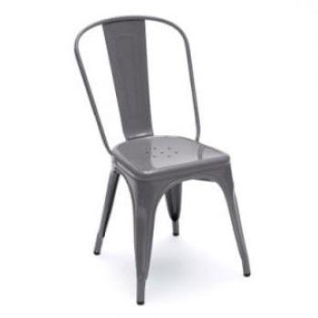 Grey Iron Chair