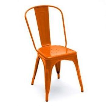 Orange Iron Chair