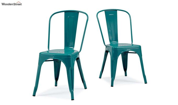 Ahora Iron Chair Set of -2 (Sea Blue)-1