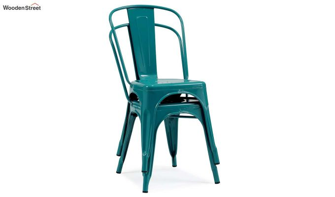 Ahora Iron Chair Set of -2 (Sea Blue)-2