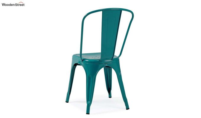 Ahora Iron Chair Set of -2 (Sea Blue)-3