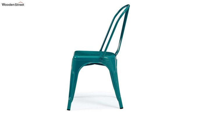 Ahora Iron Chair Set of -2 (Sea Blue)-4