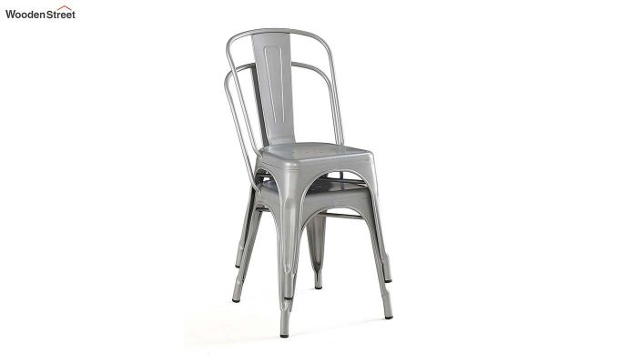 Ahora Iron Chair Set of -2 (Silver)-3
