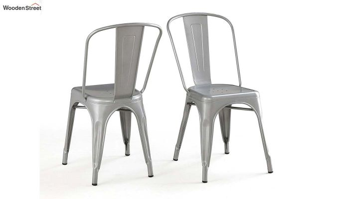Ahora Iron Chair Set of -2 (Silver)-2