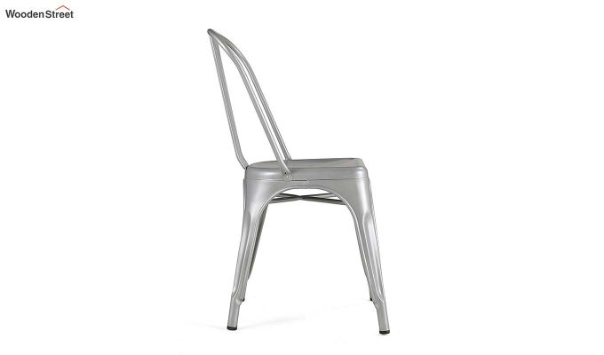 Ahora Iron Chair Set of -2 (Silver)-4