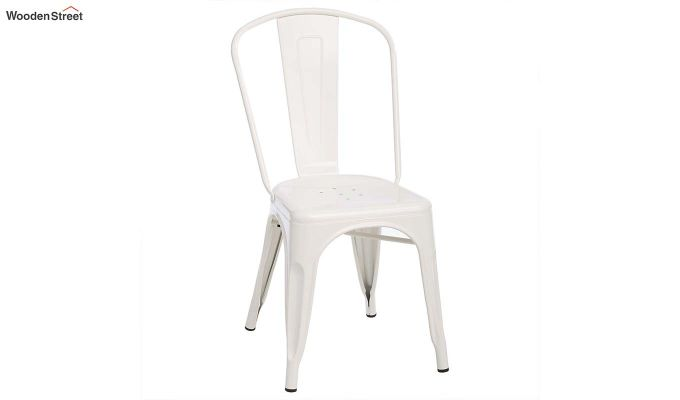Ahora Iron Chair Set of -2 (White)-2
