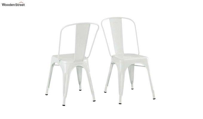 Ahora Iron Chair Set of -2 (White)-4