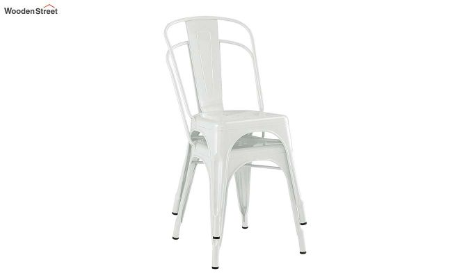 Ahora Iron Chair Set of -2 (White)-5