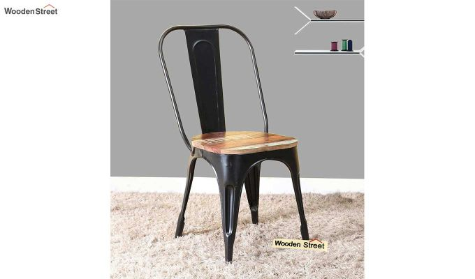 Alexa Metal Chair (Black)-1