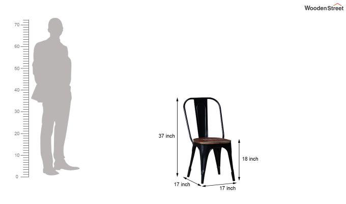 Alexa Metal Chair (Black)-7