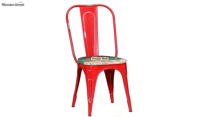 Alexa Metal Chair (Red)-1