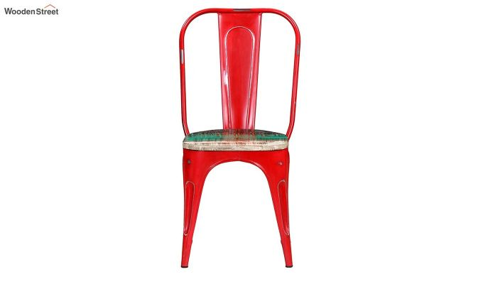 Alexa Metal Chair (Red)-3