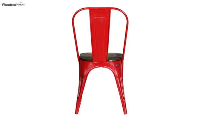 Alexa Metal Chair (Red)-5