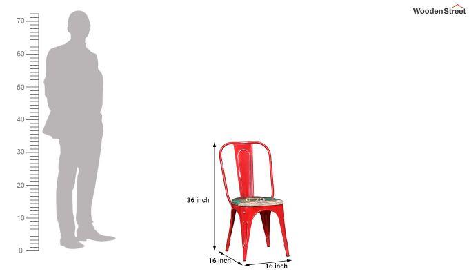 Alexa Metal Chair (Red)-6