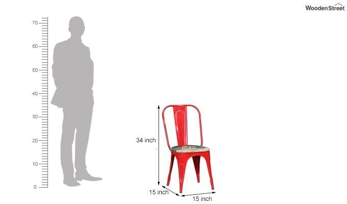 Alexa Metal Chair (Red)-6