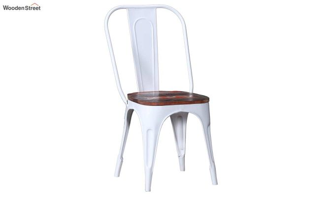 Alexa Metal Chair (White)-2