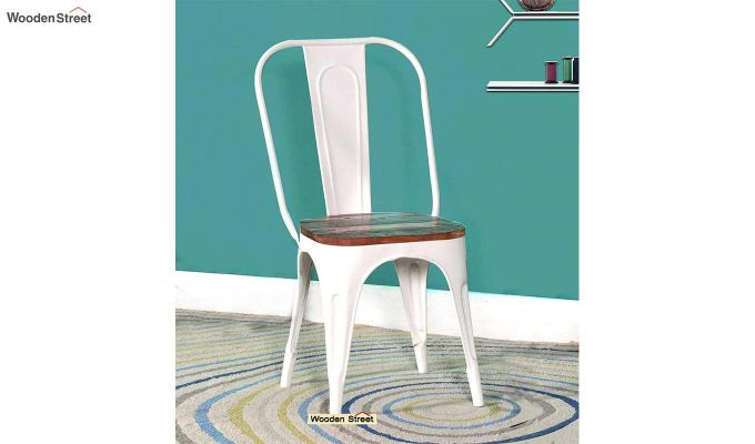 Alexa Metal Chair (White)-1
