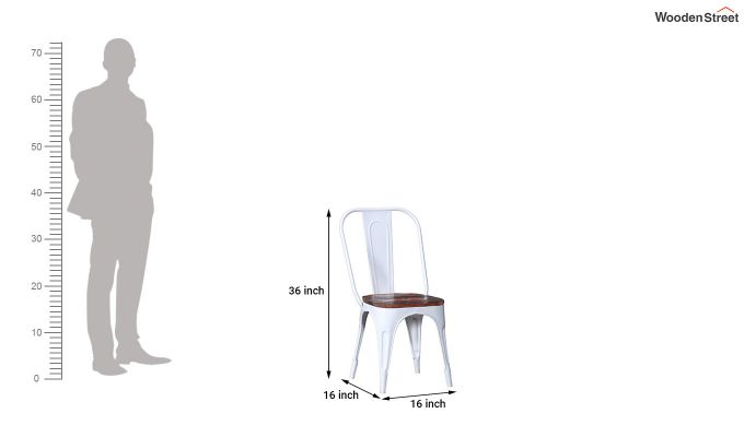 Alexa Metal Chair (White)-6