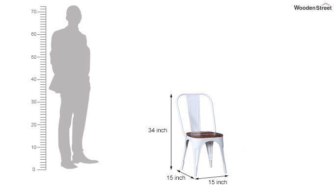 Alexa Metal Chair (White)-6
