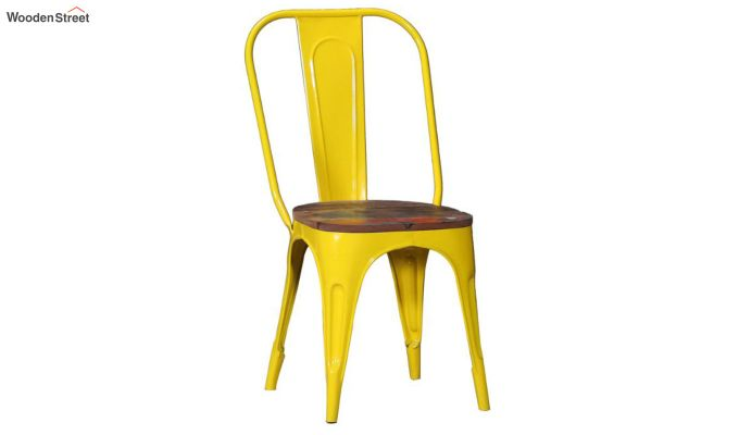 Alexa Metal Chair (Yellow)-2