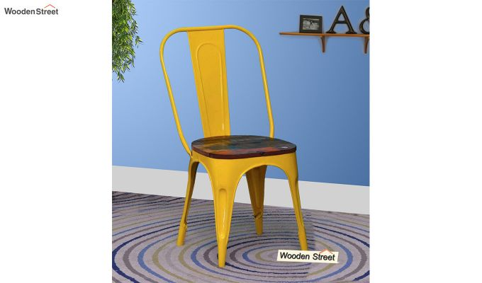 Alexa Metal Chair (Yellow)-1