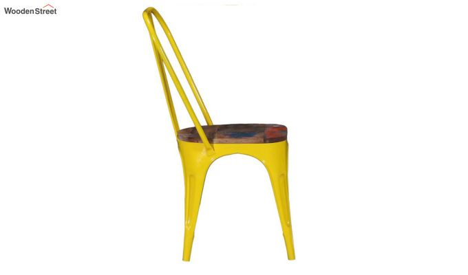 Alexa Metal Chair (Yellow)-3