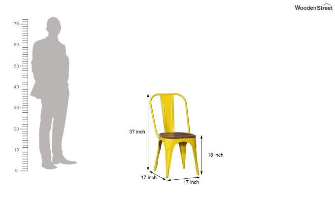 Alexa Metal Chair (Yellow)-5