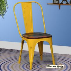 Alexa Metal Chair (Yellow)