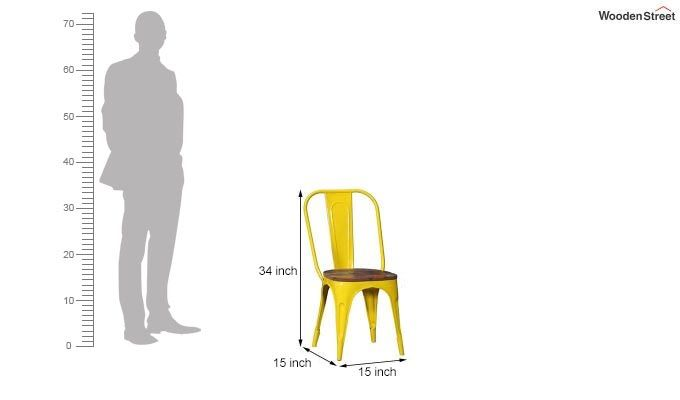 Alexa Metal Chair (Yellow)-5
