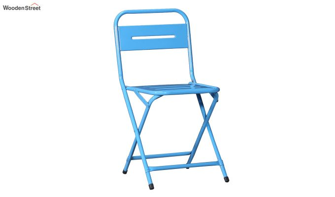 Argent Iron Folding Chair (Blue)-2