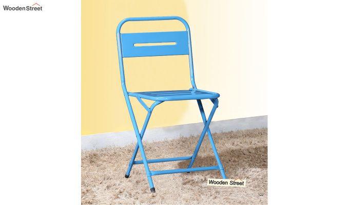 Argent Iron Folding Chair (Blue)-1