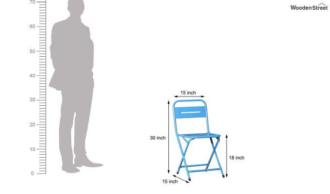 Argent Iron Folding Chair (Blue)-6