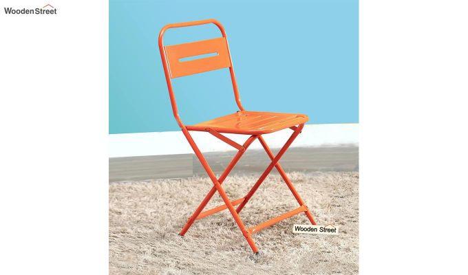 Argent Iron Folding Chair (Orange)-1