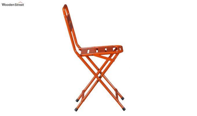 Argent Iron Folding Chair (Orange)-4