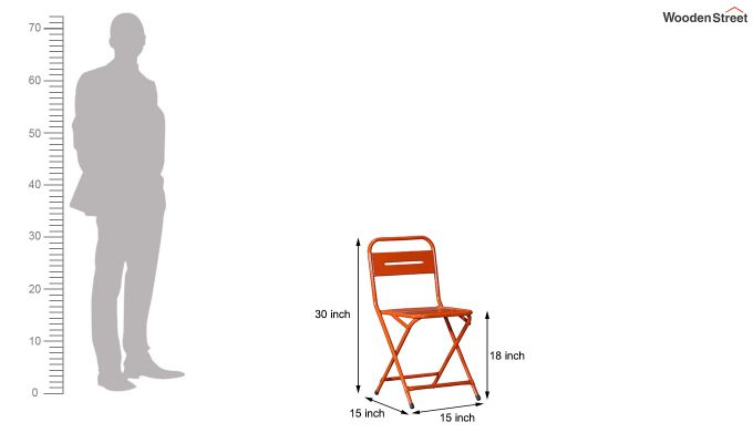 Argent Iron Folding Chair (Orange)-6