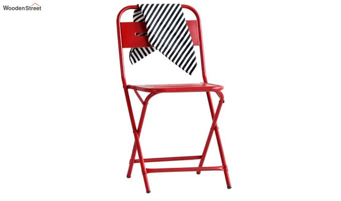Argent Iron Folding Chair (Red)-2